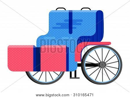 Carriage Coach Vector Vintage Transport With Old Wheels And Antique Transportation Illustration Set