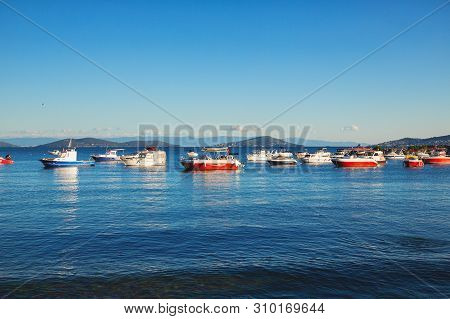 Istanbul, Turkey: Bostanci Seaside In Asian Side Of Istanbul And The Marmara Sea In Sunny Summer Day