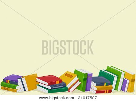 Background Illustration Featuring Books