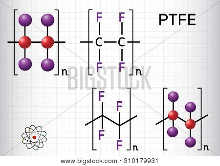 Polytetrafluoroethylene Or Ptfe, Teflon Polymer Molecule. Is A Synthetic Fluoropolymer Of Tetrafluor