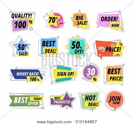 Sale Quality Badges. Assured Label Badge. Promo Sticker Exclusive Premium Best Price Delivery Button