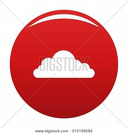 Cumulonimbus Cloud Icon. Simple Illustration Of Cumulonimbus Cloud Vector Icon For Any Design Red
