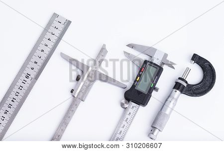 The Image Shows Different Measuring Tools Isolated On White