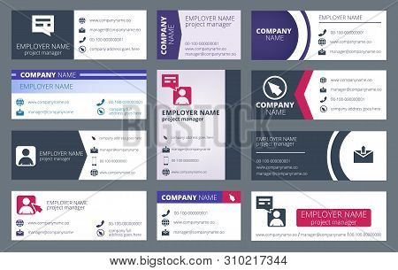 Mail Signature. Individual Text Web Mailing Interface Individualize Signature Forms Vector Template.