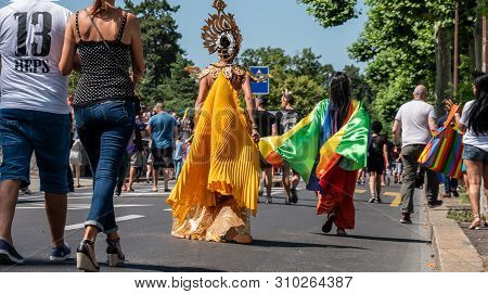 Geneva, Switzerland - 07/06/2019 : The Geneva Pride March 2019 Is An Event Intended To Give Visibili