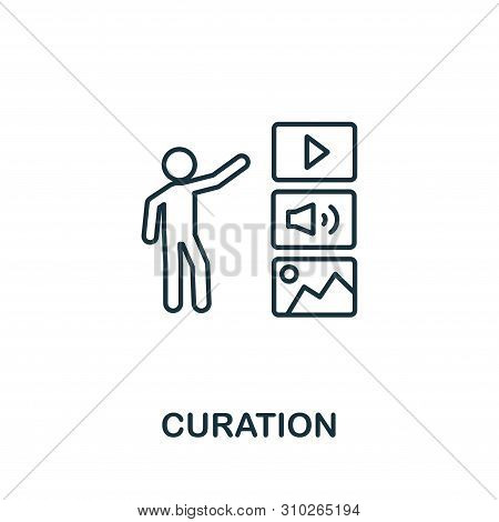 Curation Outline Icon. Thin Line Concept Element From Content Icons Collection. Creative Curation Ic