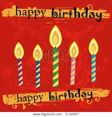 Grunge Birthday Greeting Card