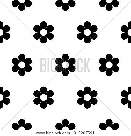 Abstract Seamless Daisy Pattern For Girls, Boys, Clothes. Creative Vector Daisy Background With Flow