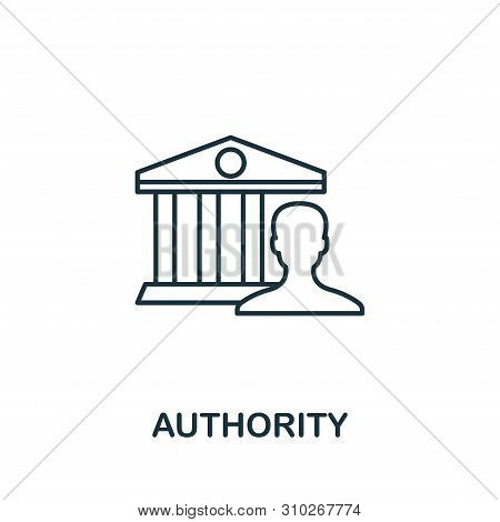 Authority Outline Icon. Thin Line Concept Element From Content Icons Collection. Creative Authority