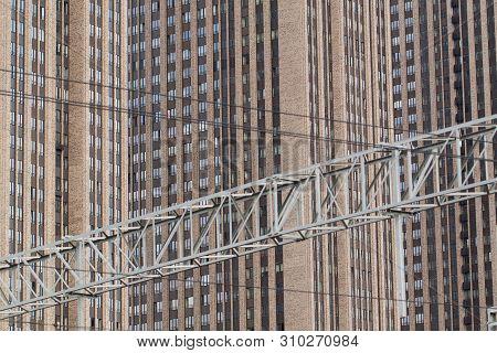 Modern Residential High-rise In A Modern Big City