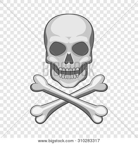 Skull And Crossbones Icon. Cartoon Illustration Of Skull And Crossbones Vector Icon For Web