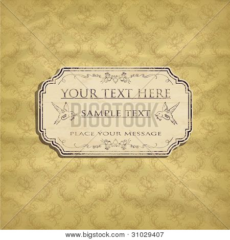 vintage card design for greeting card, invitation, menu, etc