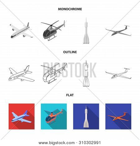 Vector Illustration Of Transport And Object Logo. Set Of Transport And Gliding Stock Vector Illustra