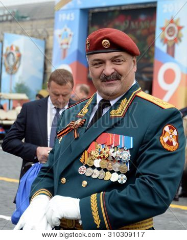Moscow, Russia - May 9, 2019: First Deputy Director Of The Federal Service Of The National Guard Tro
