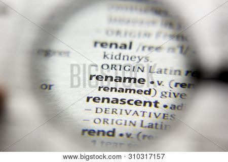 The Word Or Phrase Rename In A Dictionary