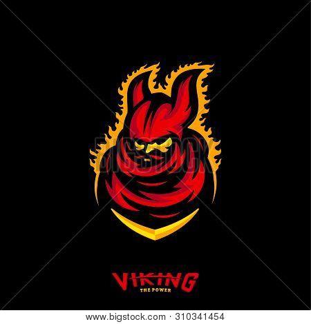 Viking eSports Logo Design Vector. Viking Mascot Gaming Logo Concepts. poster
