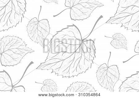 Decorative Ornamental Seamless Leaf Pattern. Template For Design Fabric, Backgrounds, Wrapping Paper