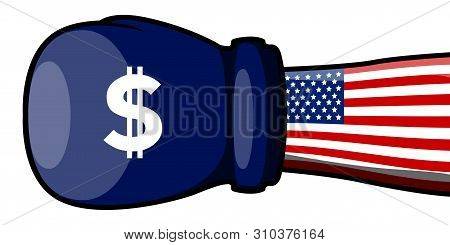 American Hand With A Boxing Glove - Vector
