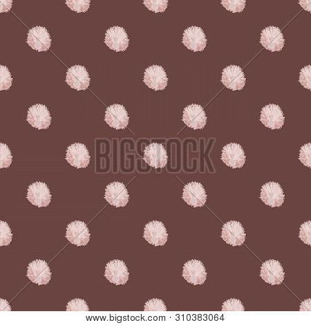 Seamless Pattern With Dandelions In Geometric Layout. Vector Illustration In Watercolour Style.