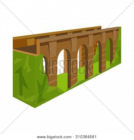 Isolated Object Of Bridge And Relocation Icon. Set Of Bridge And Column Stock Symbol For Web.