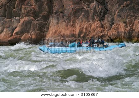 Rafters In Grand Canyon