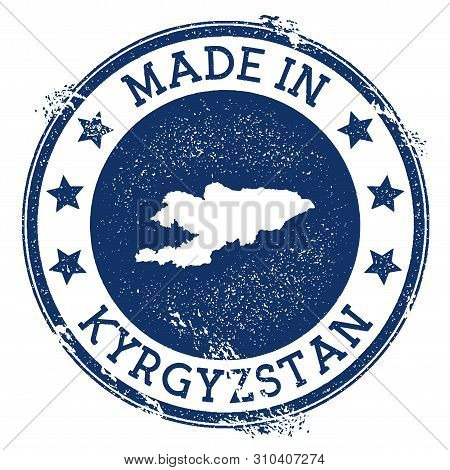 Made In Kyrgyzstan Stamp. Grunge Rubber Stamp With Made In Text And Country Map. Extra Vector Illust