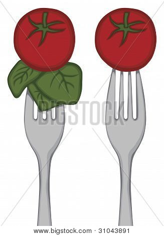 Vegetables on a Fork