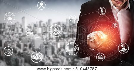 Finance And Money Transaction Technology Concept.