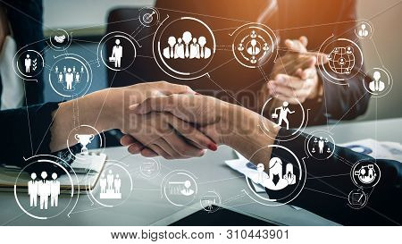 Human Resources And People Networking Concept.
