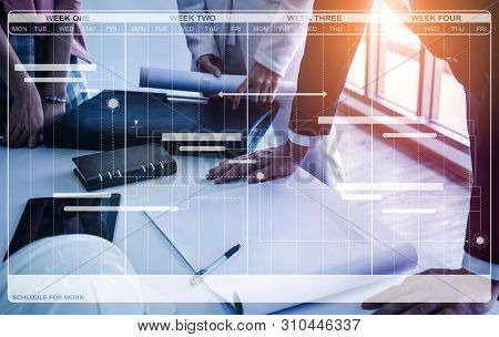 Schedule Business Planning And Project Management.