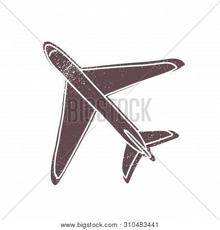 Passenger Or Cargo Airliner Or Civil Aircraft Isolated On White Background. Plane, Jumbo Jet Or Airp