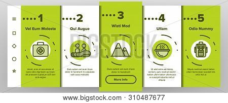Rafting Trip, Sport Linear Vector Onboarding Mobile App Page Screen. Rafting, Kayaking Thin Line. Ou