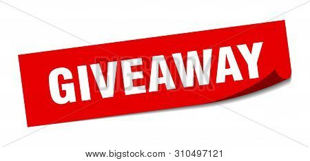 Giveaway Sticker. Giveaway Square Isolated Sign. Giveaway