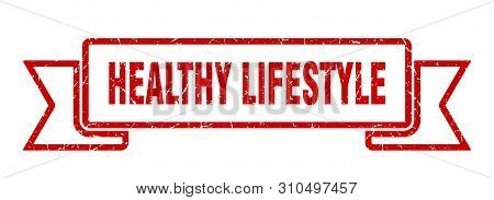 Healthy Lifestyle Grunge Ribbon. Healthy Lifestyle Sign. Healthy Lifestyle Banner