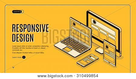 Responsive Design Landing Page, Tablet, Laptop, Computer, Mobile Desktop, Web Application Developmen