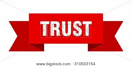 Trust Ribbon. Trust Isolated Sign. Trust Banner