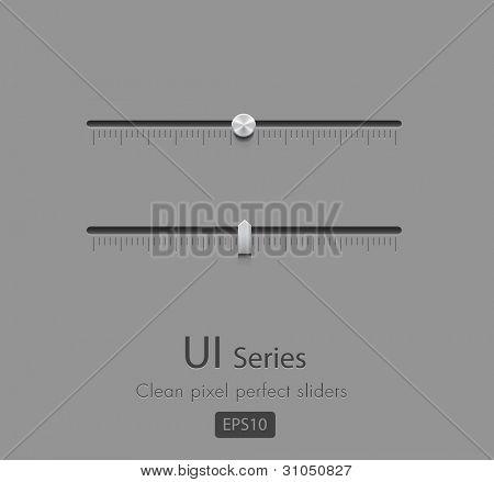 Pixel perfect vector Sliders, EPS10