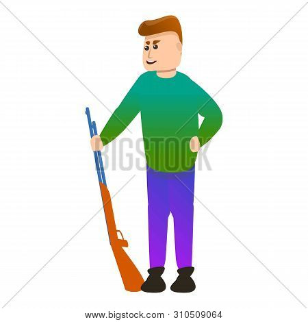 Shotgun Shooter Icon. Cartoon Of Shotgun Shooter Vector Icon For Web Design Isolated On White Backgr
