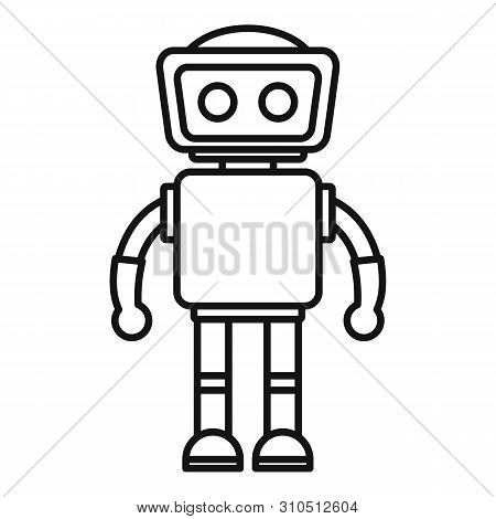 Humanoid Icon. Outline Humanoid Vector Icon For Web Design Isolated On White Background