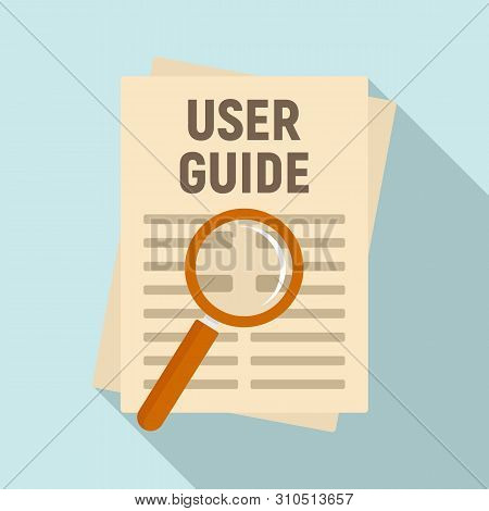 User Guide Papers Icon. Flat Illustration Of User Guide Papers Vector Icon For Web Design