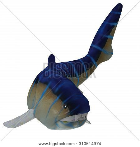 Dunkleosteus Fish Tail 3d Illustration - Dunkleosteus Was A Carnivorous Placoderm Fish That Lived In