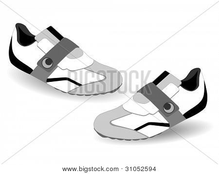 Vector Illustration of Pair of sneakers or shoes isolated on white background.