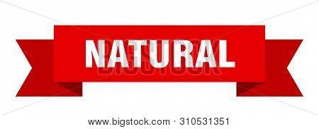 Natural Ribbon. Natural Isolated Sign. Natural Banner