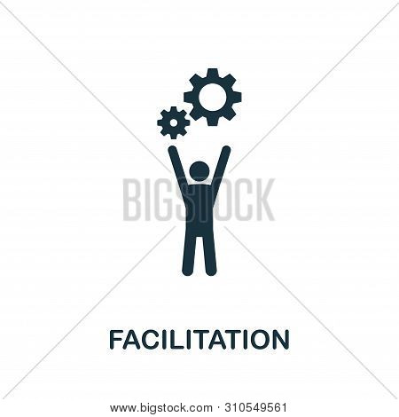 Facilitation Icon Symbol. Creative Sign From Agile Icons Collection. Filled Flat Facilitation Icon F