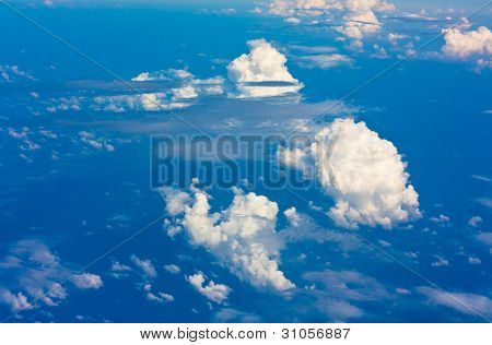 Flying Clouds Background