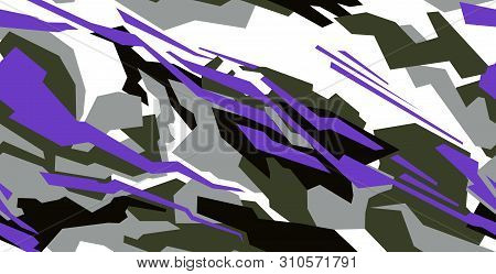 Car Decal Design Vector. Abstract Racing Graphic Stripe Background Kit For Vehicle Vinyl Wrap,