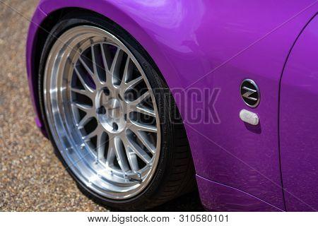 Bedford, Uk, June 1, 2019.a Special Elvis Presley Triibute Funny Car