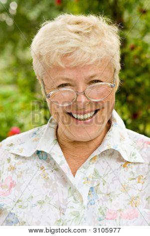 Portrait Of The Happy Grandmother