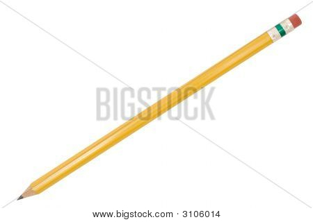 Single Pencil With Path