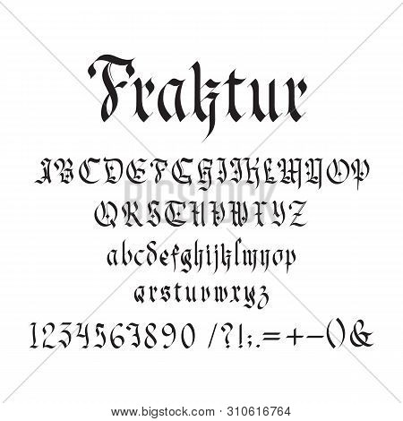 Vintage Gothic Font Vector Photo Free Trial Bigstock
